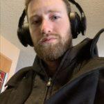 Man wearing Haymaker headphones