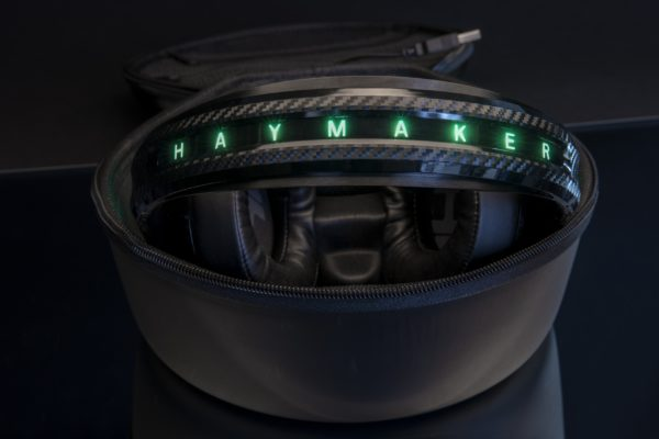 The Haymaker Headphones Inside its Case