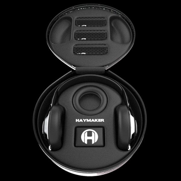 Haymaker Headphones Case Open