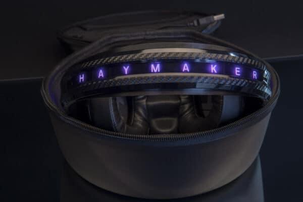 Headphone inside its case